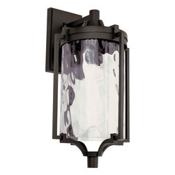 """Trans Globe Lighting - Coastal Sea 21"""" Wall Lantern - Rust - Enjoy ourdoor breezes and coastal elements with water glass lanterns that add warm reflections across landscape and garden entry areas. Glass is open at bottom.; Weather resistant cast aluminum; Lantern attached to wall bracket and plate so it can withstand wind; Clear water glass adds accent shadows to landscape and gardens; Down direction bulb adds brighter light at entry area and porch; Coastal inspired complete outdoor lighting collection; Materials: Cast Aluminum, Glass; Bulb Type: Medium - E-26 - E-27 - Type A; Bulb Wattage: 100; No. of lights: 1; Bulbs Included:No; Glass: Clear Water Glass; Dimensions:11""""W x 21""""H x 12.75""""D"""