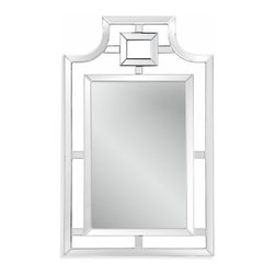 Bassett Mirror - Bassett Mirror Bonifacio Wall Mirror - Retro never looked so good. With a clear frame, beveled edges and graceful curves, it's sure to spice up your fireplace mantel or entryway.