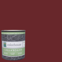 Colorhouse Interior Chalkboard Paint, Wood .04, Quart - Color house Chalkboard paint turns any interior surface into a chalkboard. All Color house paints are zero VOC, low-odor, and have superior coverage and durability. Color house paints are 100% acrylic with no VOCs (volatile organic compounds), no toxic fumes/HAPSs-free, no reproductive toxins, and no chemical solvents.