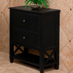 "29"" Clinton Single Tilt-Out Wood Laundry Hamper - Black - The 29"" Black Clinton Wood Laundry Hamper features two faux drawers that disguise a single tilt-out hamper. The classic Clinton design has an open lower shelf, which is convenient for visible storage."