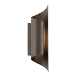 Modern LED Outdoor Wall Light in Bronze Finish -