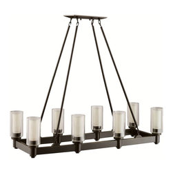 Circolo olde bronze rectangular 8 light contemporary dining room chandelier lighting find lamps - Kichler dining room lighting ...