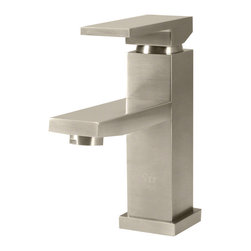 None - Sir Faucet 720 Single Lever Handle Vessel Faucet - This fixture from Sir Faucet is designed to complement the beauty and convenience of a vessel sink with built-in faucet holes. This faucet features classic geometric edges,and a single handle offers simple,one-handed operation.