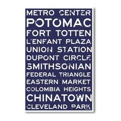 PosterEnvy - Washington D.C - NEW World Travel City Train Station Street Signs Poster - Washington D.C - NEW World Travel City Train Station Street Signs Poster