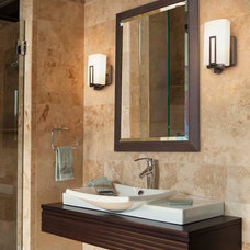 modern bathroom lighting and vanity lighting by Kichler