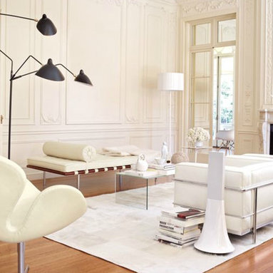 Serge Mouille 3-Arm Floor Lamp - This dynamic floor lamp was the first one Serge Mouille designed back in the 1950s. When looking at the price, know that you are investing in a beautiful and functional sculpture.