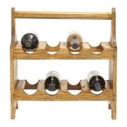 Useful and Cool Wood Wine Caddy - Description: