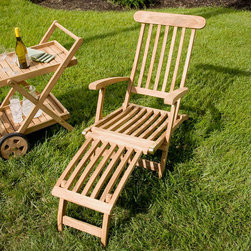 Callista Teak Folding Steamer Lounge Chair - Relax in comfort and style with the Callista Teak Folding Steamer Lounge Chair. Pair with a teak wood side table for a custom seating area.