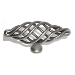 Top_Knobs - Top Knobs - Medium Oval Twist Knob 3 Inch - Pewter - M622 - Normandy Collection, Steel Base Material,  Weight: 0.1 Lbs