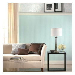 """Graham & Brown - Beadboard Wallpaper - This Paintable Beadboard wallpaper is the most convenient of our beadboard designs. This product is """"paste-the-wall"""" (nonwoven backing) making it the easiest to hang and remove when you desire a change! This pattern is fully strippable and is paintable to match your decor!"""