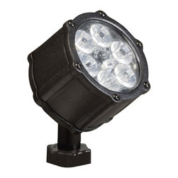 LANDSCAPE - LANDSCAPE 15741BKT 8.5W 10 Degree Spread Landscape LED Accent Light - Engineered to provide the spread of light needed with the amount of lumen output desired. Housing is made of die cast aluminum or die cast brass with clear tempered glass lens and polycarbonate mounting stem and locknut.
