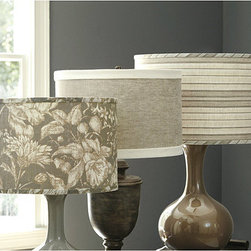 Marlowe Collect Limited Edition Drum Lamp Shade - Stripes and solids collide with these lovely, neutral lamp shades. Swapping shades is always a quick way to transform any space.