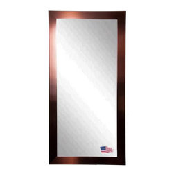 Rayne Mirrors - American Made Shiny Bronze Full Length Mirror - Show some charisma with this attractive industrial style copper bronze tall mirror. The warmth of the bronze compliments the shimmering mirror and makes this design a smart choice for most any style of home decor, in any room.  Rayne's American Made standard of quality includes; metal reinforced frame corner  support, both vertical and horizontal hanging hardware installed and a manufacturers warranty.