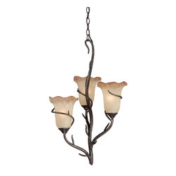 Vaxcel - 3L Chandelier - Vaxcel Lighting H0024 Monterey 3 Light Chandelier This item by Vaxcel Lighting comes in an autumn patina finish. It is available with umber mist glass.