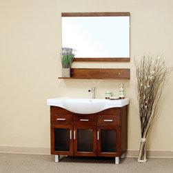 Bellaterrra - Bellaterra 203139 39.8 In Single Sink Vanity-Wood-Walnut - 39.8x18.5x34.8 in. - Bellaterra 203139 39.8 In Single Sink Vanity-Wood-Walnut - 39.8x18.5x34.8 in.