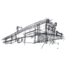 Modern Exterior Elevation by RUFproject