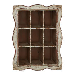 Lovely and Timeless Wood Wall Shelf - Description: