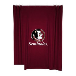 Sports Coverage - Florida State Seminoles Shower Curtain - This 72 x 72 officially licensed Florida State University Seminoles shower curtain of jersey material with logo is perfect for any bathroom in need of a little extra team spirit. It weighs approximately one pound and is screen printed with Plastisol. Shower Curtain is 100% Polyester Jersey