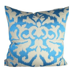 Design Accents Ikat Pillow - 20L x 20W in. - Add a bright touch of color and style to any room with the Design Accents Ikat Pillow - 20L x 20W in.. The high-quality cotton construction make this an accent with lasting beauty. Embroidered in an ikat design, this modern pillow is available in a variety of colors so you can get the look that's just right for you.