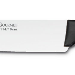 """Wusthof - Wusthof Wusthof Gourmet 6 in. Utility Knife, Metal - Wusthof gourmet - Precisely cut with the latest state of the art laser technology. Manufactured from one piece of steel (Chrom Molybdenum Vanadium) ground to a sharp edge. Very comfortable to use. Synthetic handle, full tang handle for all blades longer than 12cm. 6"""" utility knife. Style #4114 /16"""
