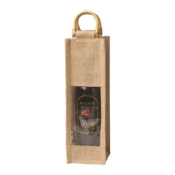 Franmara - Brown Burlap Jute Vino-Sack for One Wine Bottle with Window - This gorgeous Brown Burlap Jute Vino-Sack for One Wine Bottle with Window has the finest details and highest quality you will find anywhere! Brown Burlap Jute Vino-Sack for One Wine Bottle with Window is truly remarkable.