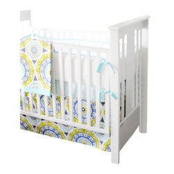 Indigo Summer Baby Crib Bedding Set 2 Piece Set - Indigo Summer Baby Crib Bedding Set 2 Piece Set