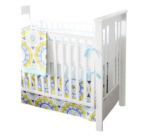 Indigo Summer Baby Crib Bedding Set 2 Piece Set - Indigo Summer Baby Crib Bedding Set 2 Piece Set