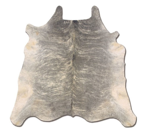 Linon - Animal Inspirations Cowhide 6'x7' Rectangle Light Brindle Area Rug - The Cowhide area rug Collection offers an affordable assortment of Animal Inspirations stylings. Cowhide features a blend of natural Light Brindle color. Handmade of 100% Brazilian Cow Hide the Cowhide Collection is an intriguing compliment to any decor.