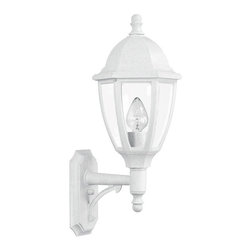 "Lamps Plus - Transitional Everstone 26 1/4"" High 150W White Outdoor Wall Lantern - This wonderful Whitestone finish outdoor wall fixture carries the exclusive Oceanside Approved designation and is uniquely designed to withstand coastal elements with no adverse effects to the finish. Fiber-reinforced construction will look the same in 10 years as the day it is installed. A clear acrylic lens protects the lamp which uses up to a 150 watt bulb. All mounting hardware inserts and thumbscrews are non-corrosive nylon. From Maxim Lighting. Large bright outdoor wall lantern. Whitestone finish. Non-corrosive fiber-reinforced polymer construction. Clear acrylic lens. One max 150 watt bulb (not included). UL listed. 26 1/4"" high. 10 3/4"" wide. Extends 12 3/4"". Back plate is 5 1/2"" wide 10 3/4"" high. Mounting point to top is 21 1/4"".  Large bright outdoor wall lantern.  Whitestone finish.  Non-corrosive fiber-reinforced polymer construction.  Clear acrylic lens.  One max 150 watt bulb (not included).  26 1/4"" high.  10 3/4"" wide.  Extends 12 3/4"".  Back plate is 5 1/2"" wide 10 3/4"" high.  Mounting point to top is 21 1/4""."