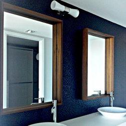 Modern Mirrors - Wood deep box mirror,  shown size about 32 x 40