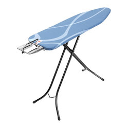 Brabantia Ironing Table, Steam Iron Rest, Metallic Black Frame, Swirl Cover