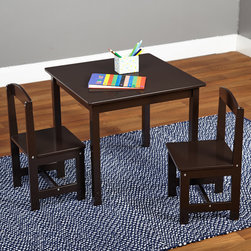 Simple Living - Simple Living Espresso 3-piece Hayden Kids Table and Chair Set - A wise purchase,this table will get hours of kid-filled use. This set includes an espresso brown-colored square table and two chairs.