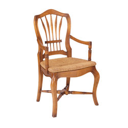 French Heritage - French Heritage Wheatback Arm Chair - If you want a chair worthy of respect to preside over homeland matters, this candidate is it. This armchair upholds a tradition of beautiful craftsmanship and adds spacious seating to ensure that every position you choose is a comfortable one.