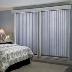 Bali - Bali Fabric Vertical Blinds: Rockford - For an alternative to traditional vertical blinds, try fabric vertical blinds from Bali.  The Rockford style is a textured fabric with a slight ripple pattern.
