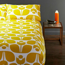 Honey Flower Duvet Cover Set - Lie down in Scandinavian style with this Honey Flower Duvet Cover. Orla Kiely's bedding brings nature into the bedroom. Sweet dreams. Comes with two matching pillow shams.
