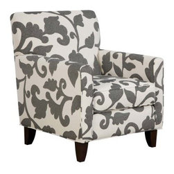 Armen Living Franklin Chair - The Armen Living Franklin Chair features a beautiful botanical print that will enliven your decor with contemporary form and color. Available in your choice of upholstery color, this distinctive chair provides outstanding comfort and sophisticated style, including matching piping and tapered, dark wood legs.About Armen LivingImagine furniture without limits - youthful, robust, refined, exuding self-expression at every angle. These are the tenets Armen Living's designers abide by when creating their modern furniture collections. Building on more than 30 years of industry experience, Armen Living combines functional versatility and expert craftsmanship into their dramatic furniture styles, all offered at price points fit for discriminating budgets. Product categories include bar stools, club chairs, dining tables, ottomans, sofas, and more. Armen Living is based in Sun Valley, Calif.