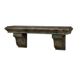 Uttermost - Uttermost 13858  Musone Aged Shelf - Heavily burnished, rust taupe finish.
