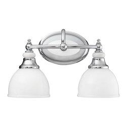 Kichler - Kichler Pocelona Bathroom Lighting Fixture in Chrome - Shown in picture: Kichler Bath 2Lt in Chrome