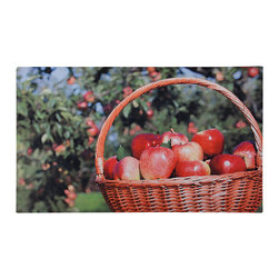 Esschert Design - Printed Doormat - Apples - What could be more homey than a basket of apples? This charming printed pattern brings a warm welcome to your home with this ecofriendly rubber doormat.