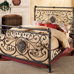Hillsdale - Mercer Bed Set - Constructed of sturdy metal and featuring an antique brown finish,this Mercer bed set offers functionality and timeless style. This bed is available in a queen or king size,so you can choose the right size to fit your bedroom.