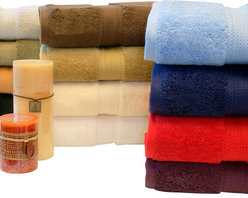 Bed Linens - Egyptian Cotton 900GSM 3pc Towel Set Forest Green - Towel Set Includes:
