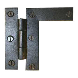 Renovators Supply - Cabinet Hinges Black Wrought Iron HL Hinge Flush 3 1/4H x 3 3/8W - HL Hinges. These outstanding hinges crafted wrought iron are popular on cabinet doors, armoires, and gates. A fabulous detail for a modern sleek look or for that Old Colonial charm. Affordably reclaim old cabinet doors or update a piece of furniture or bedroom armoire. Our exclusive RSF coating protects this product for years to come. Sold individually, mounting hardware included.