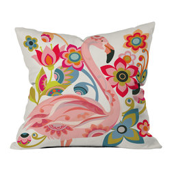DENY Designs - Valentina Ramos Domingo Outdoor Throw Pillow - Do you hear that noise? It's your outdoor area begging for a facelift and what better way to turn up the chic than with our outdoor throw pillow collection? Made from water and mildew proof woven polyester, our indoor/outdoor throw pillow is the perfect way to add some vibrance and character to your boring outdoor furniture while giving the rain a run for its money. Custom printed in the USA for every order.