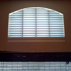 FAUXWOOD BLIND AND ARCHES - custom elongated eyebrow, non-operable