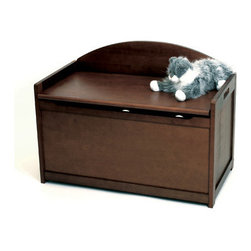 "Lipper International - Kids Toy Box - This beautifully crafted toy chest provides ample space for you to store away unsightly clutter. Features: -Collection: Juvenile Collection.-Hardware Finish: Nickel.-Distressed: No.-Frame Material: Beechwood.-Hardware Material: Nickel.-Solid Wood Construction: No.-Non-Toxic: Yes.-Insect Resistant: Yes.-Rot Resistant: Yes.-Number of Interior Storage Sections: 1.-Removable Dividers: No.-Lidded: Yes -Removable Lid : No.-Safety Lid: Yes..-Upholstered: No.-Handles: Yes.-Casters: No.-Stackable: No.-Weight Capacity: 100 lbs.-Swatch Available: No.-Commercial Use: No.-Recycled Content: No.-Eco-Friendly: Yes.-Product Care: Wipe clean with a damp cloth.-Age Recommendation: 12 months to 10 years.Specifications: -CPSIA or CPSC Compliant: No.-CARB Compliant: No.-JPMA Certified: No.-ASTM Certified: Yes.-PEFC Certified: No.-Green Guard Certified: No.Dimensions: -Overall Height - Top to Bottom: 24.2"".-Overall Width - Side to Side: 33.25"".-Overall Depth - Front to Back: 17.75"".-Storage Compartment: -Storage Compartment Width - Side to Side: 31.5"".-Storage Compartment Depth - Front to Back: 16""..-Seat: Yes.-Clearance from Floor to Bottom of Product: 1"".-Overall Product Weight: 32 lbs.Assembly: -Assembly Required: Yes.-Tools Needed: Screws and Allen Key Included.-Additional Parts Required: No. About the Manufacturer: Lipper International is for its sturdy design and rugged durability, the Kids Collection from Lipper International provides children of all ages with colorful items well suited for play and creativity. With a wide variety of themes, including table & chair sets, easels, arts & crafts, and rocking horses, thia Lipper collection will match any child's room and imagination."