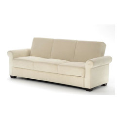 Lifestyle Solutions - Serta Dream Convertible Thomas Sofa in Light - Easily converts from sofa to bed position in seconds. 3 seat function: sofa, lounger, bed. Construction: wood frame, wood base, wood legs. Durable construction. Pocket coil inner springs. Clean with damp cloth. Sofa: 87.8 in. L x 33.9 in. W x 35.4 in. H (141.8 lbs). Bed: 87.8 in. L x 44.9 in. W x 24.4 in. H (141.8 lbs)Serta Dream Convertibles - a collection of stylish convertibles that turn from Sofa by Day to a Dream Sleeper at Night. From individual encased coils to quilted memory foam to ensure comfort.