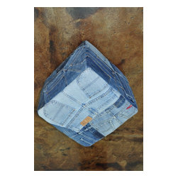 "Loloi Rugs - Loloi Rugs Runway Collection, Denim Shorts, 1'-4""x1'-4"" Cube - It's casual, chic and the perfect fit for any stylish room. Made in India, these hand-stitched, supple denim rugs are crafted from vintage blue jeans and vintage denim shirts. Choose from four styles: Denim Shorts, Denim Full, Denim Sleeves and Denim Pockets. Also ask about cool beanbags, poufs, stools and pillows."
