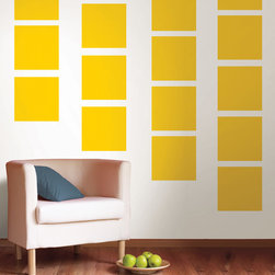 Lello Yellow Blox Set of Wall Decals - Lello Yellow wallpops bring a sunny warmth to your decor. The lemon yellow hue of this wall art can add dramatic splash or a pleasant glow to walls. This pack contains twenty 13 inch x 13 inch blox. WallPops are repositionable and always removable.