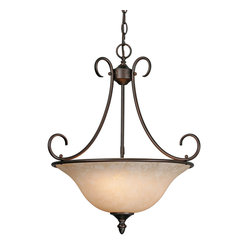 Centennial Pendant Bowl, Rubbed Bronze
