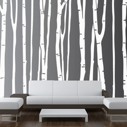 Innovative Stencils - Large Wall Birch Tree Decal Forest Kids Vinyl Sticker Removable (9 Trees) #1109, - MADE IN THE USA with 100% USA MATERIALS